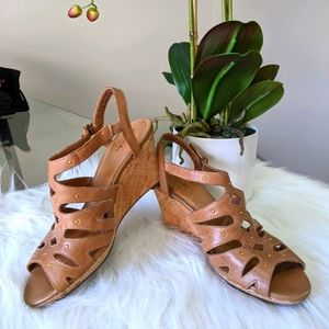 Clark's Leather wedges